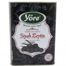 Вяленые маслины натуральные 4кг калибровка MEGA (231-260 шт/кг) железная банка YORE