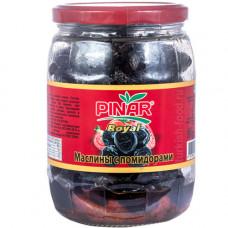 Вяленые маслины с вялеными помидорами 500 гр в стекле PINAR ROYAL