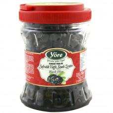 Вяленые маслины натуральные 700гр калибровка 2XS (381-410 шт/кг) пластиковая банка YORE
