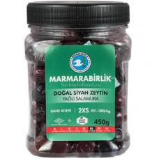 """Вяленые маслины калибровка 2XS 450 г, (ферментированные в рассоле - """"саламура""""), масляные, в пластиковой банке MARMARABIRLIK"""