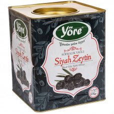 Вяленые маслины натуральные 10кг калибровка JUMBO (261-290 шт/кг) железная банка YORE