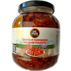 Вяленые помидоры полоски 1600 гр, сушеные на солнце, в масле Deli Veggy