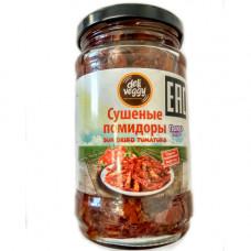 Вяленые помидоры, полоски, 285 гр, сушеные на солнце, в масле Deli Veggy