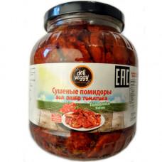 Вяленые помидоры половинки 1600 гр, сушенные на солнце, в масле Deli Veggy