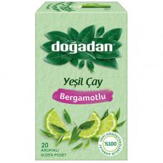 Зелёный чай с бергамотом 20 пакетиков DOGADAN