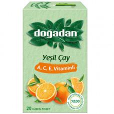 Зелёный чай с витаминами А-С-Е, 20 пакетиков DOGADAN